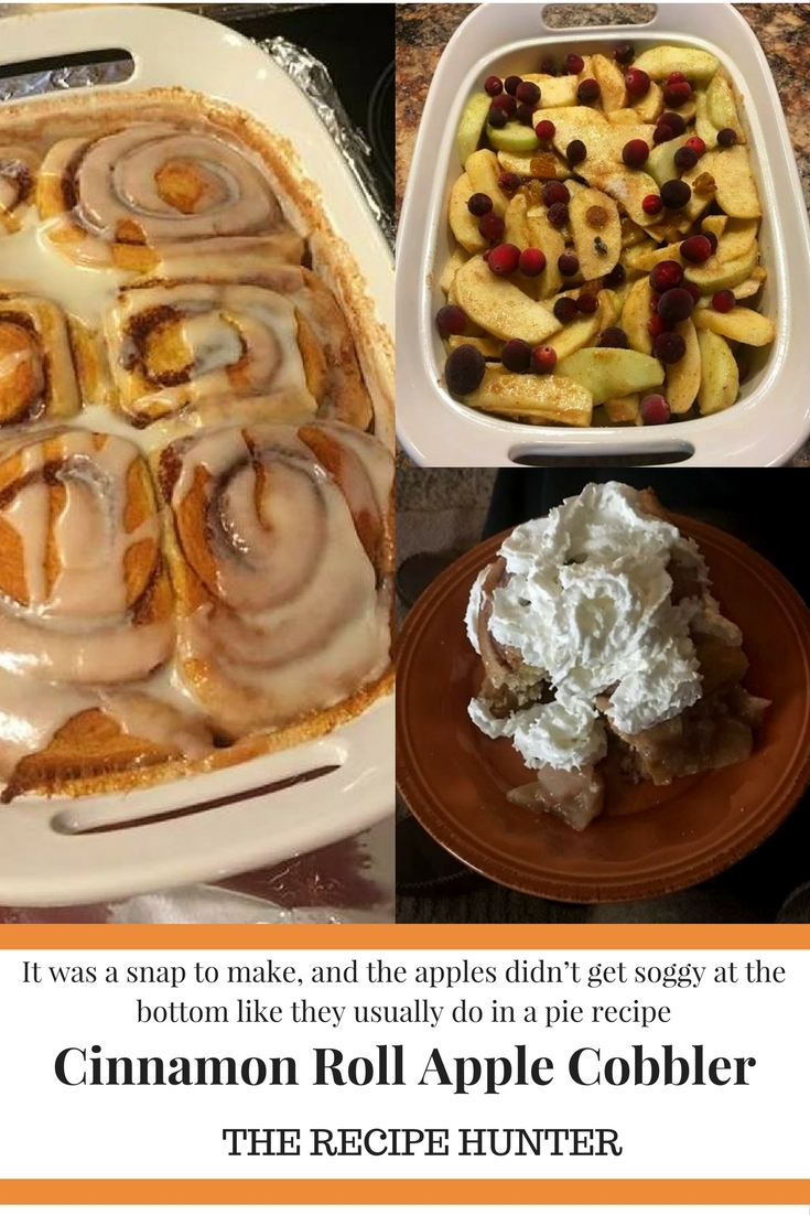 Cinnamon Roll Apple Cobbler