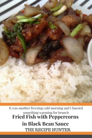Fried Fish with Peppercorns in Black Bean Sauce