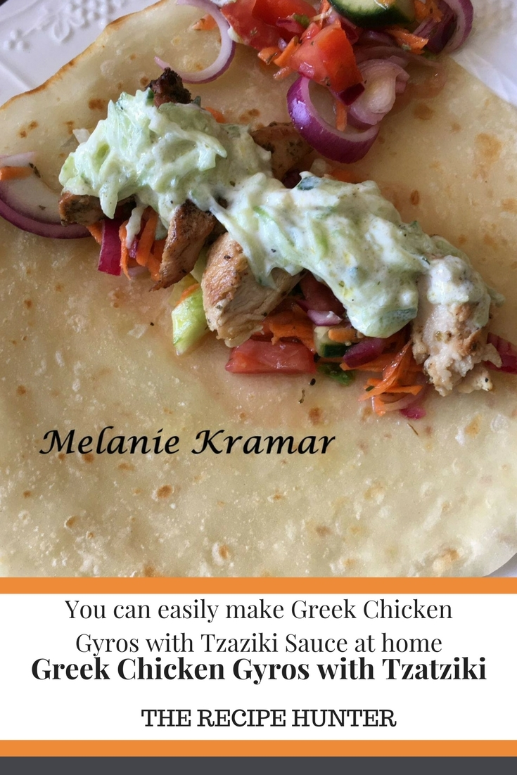 Greek Chicken Gyros with Tzatziki