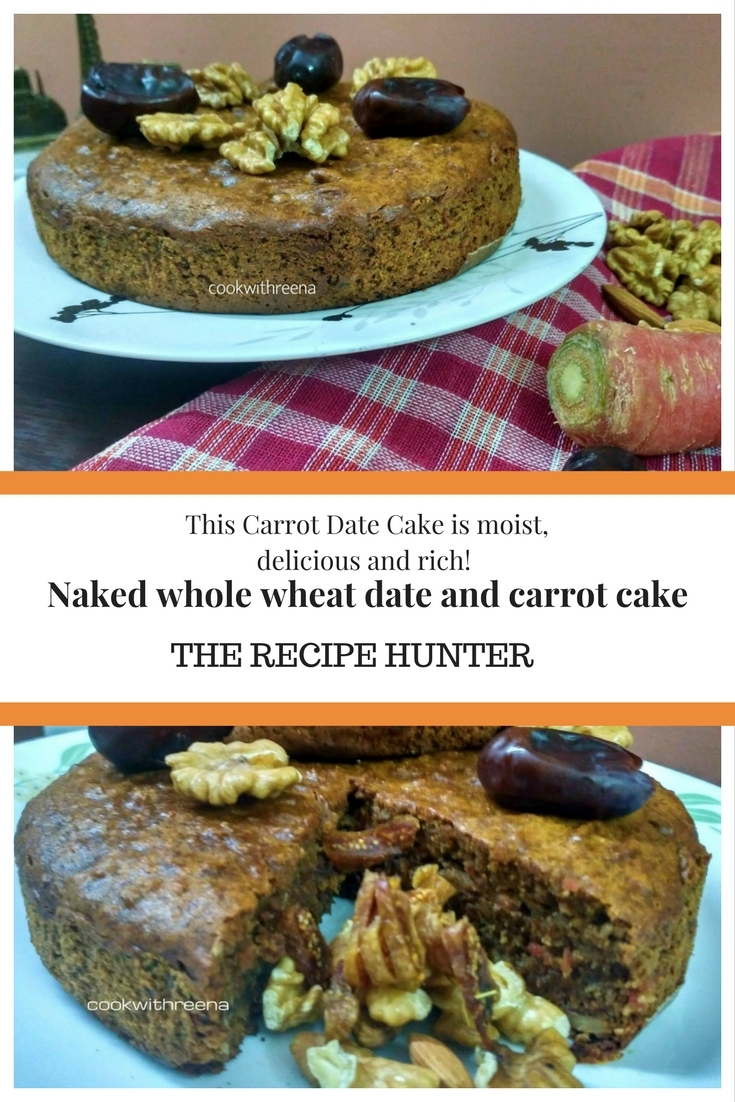 Naked wholewheat date and carrot cake