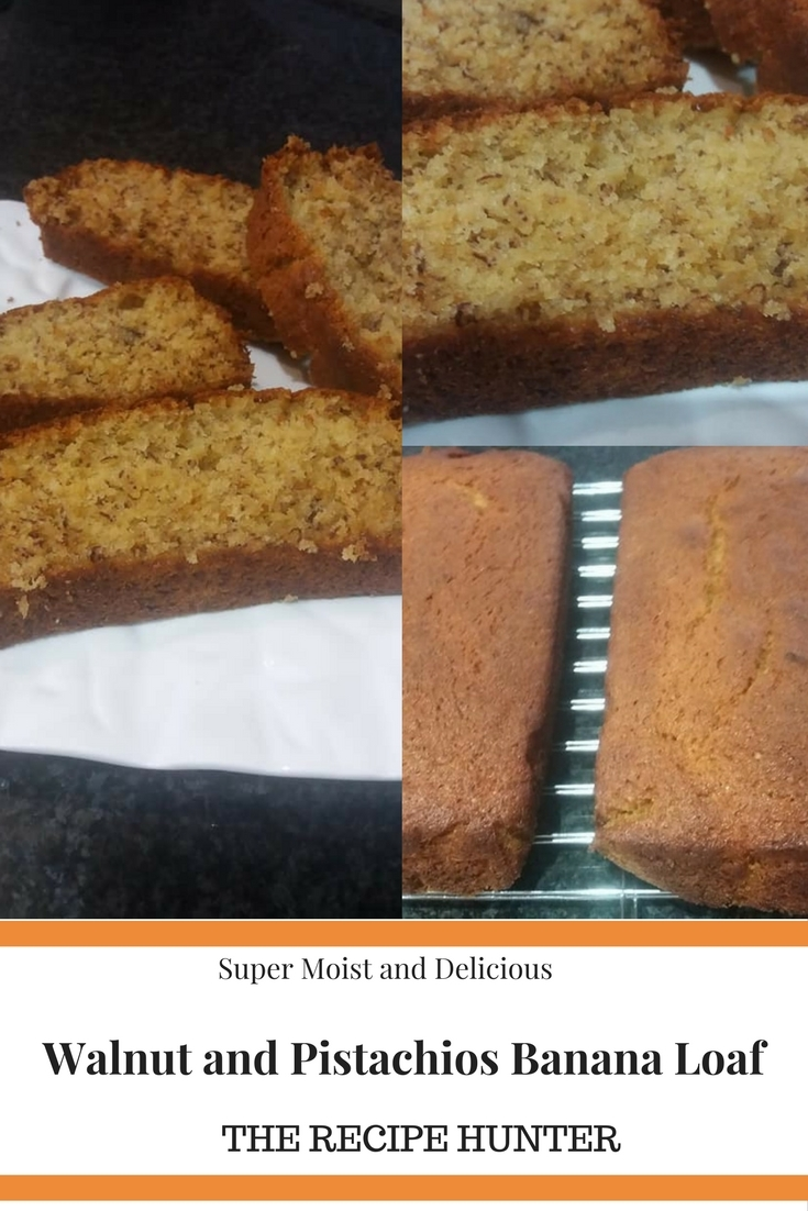 Walnut and Pistachios Banana Loaf