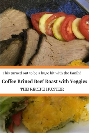 Coffee Brined Beef Roast with Veggies