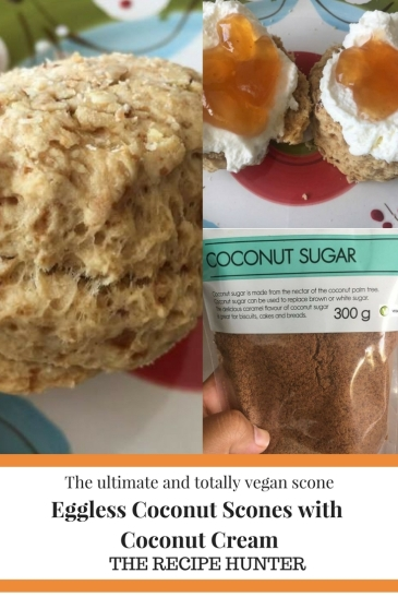 Eggless Coconut Scones with Coconut Cream Vegan