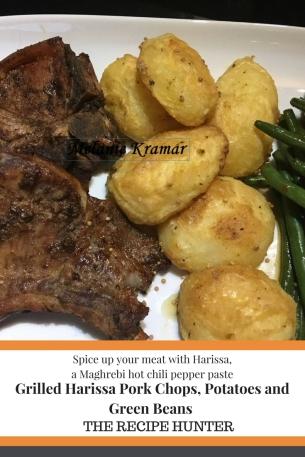 Grilled Harissa Pork Chops