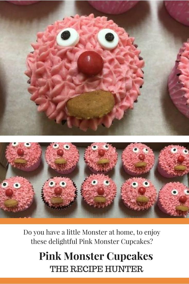 Pink monster cupcakejpg