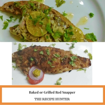 Baked or Grilled Red Snapper