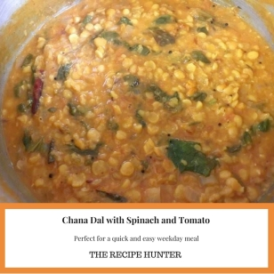 Chana Dal with Spinach and Tomato