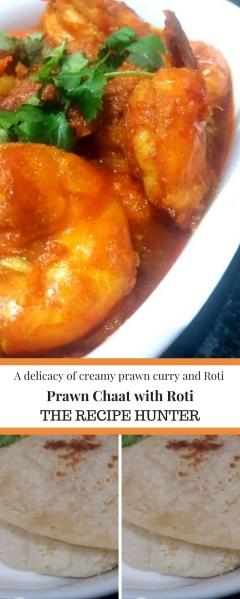 Creamy Prawn Chaat with Roti