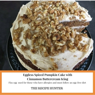 Eggless Spiced Pumpkin Cake with Cinnamon Buttercream Icing