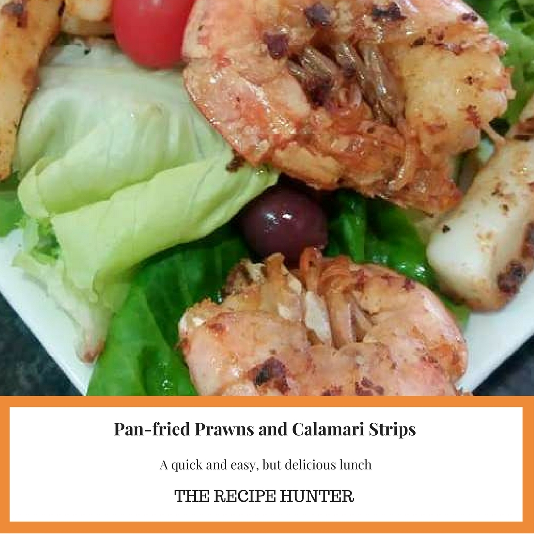 Pan-fried Prawns and Calamari Strips