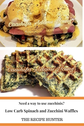 Spinach and Zucchini Waffles