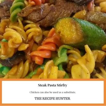 Steak Pasta Stirfry
