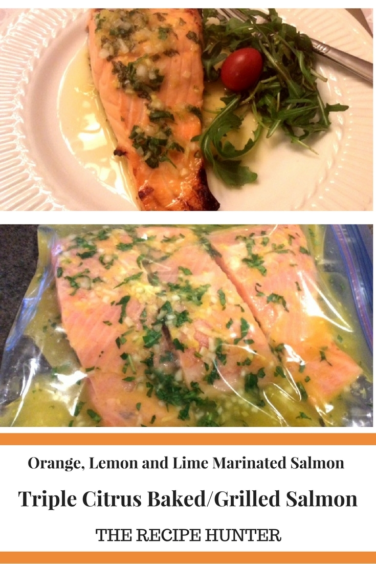 Triple Citrus Baked Grilled Salmon