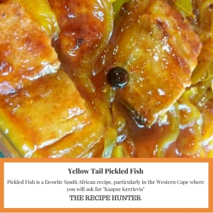 Yellow Tail Pickled Fish