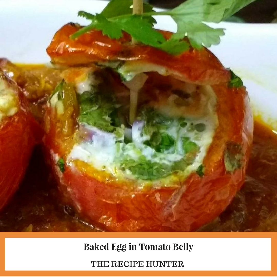 Baked Egg in Tomato Belly