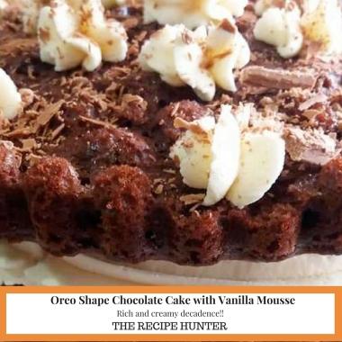 Oreo Shape Chocolate Cake with Vanilla Mousse